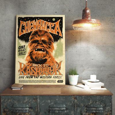 Film & Serien - Star Wars Metallposter - Chewbacca