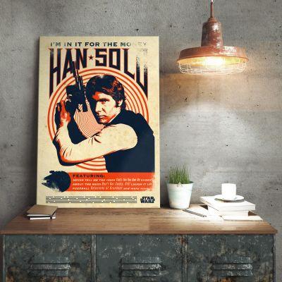 Film & Serien - Star Wars Metallposter - Han Solo Retro