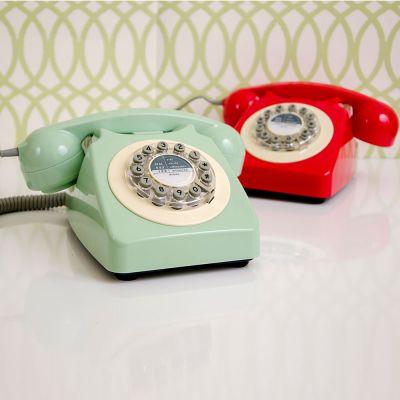 Geschenke für Eltern - Retro-Telefon in Rot oder Grün