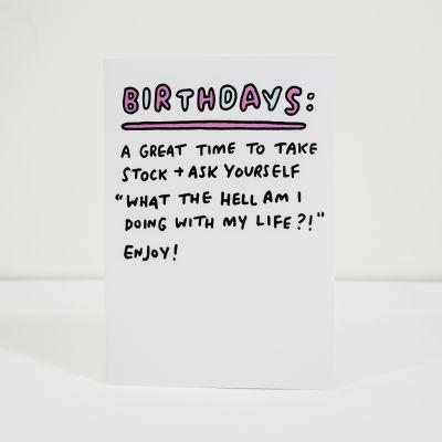 Geschenk für Freund - Geburtstagskarte Take Stock