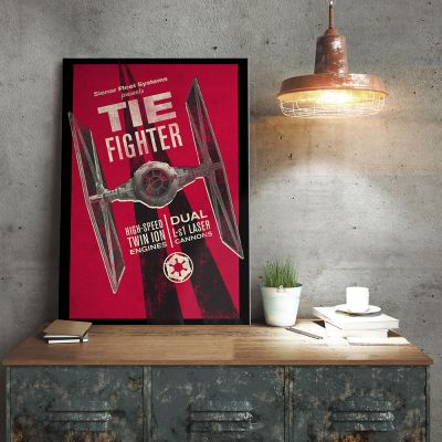 NEUES - Star Wars Metallposter - Tie Fighter