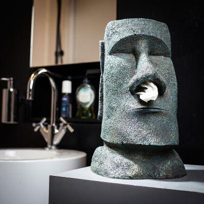 Geburtstagsgeschenk für Mama - Moai Taschentuchhalter