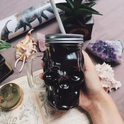Tassen & Gläser - Totenkopf Trinkglas