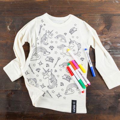 Homewear - Einhorn T-Shirt zum Selbst-Bemalen