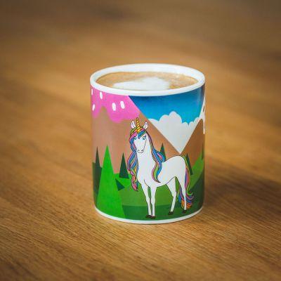 Geburtstagsgeschenk für Mama - Wärmeempfindliche Einhorn Tasse