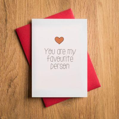 Geschenk für Freund - Valentinstags- und Liebeskarte Favourite Person