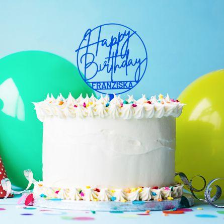 Personalisierbarer Cake Topper zum Geburtstag