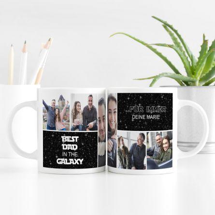 Personalisierbare Tasse mit 5 Bildern und Text