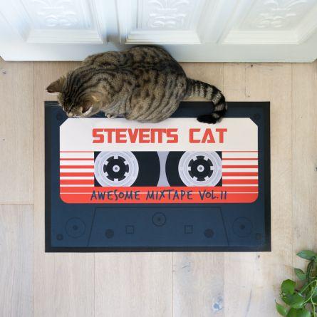 Personalisierbare Fußmatte Mixtape