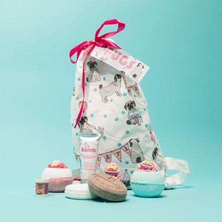 Mops Badekugeln Geschenk-Säckchen