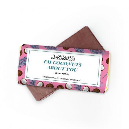 Schokolade mit 4 Zeilen