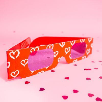 Spiel & Spass - Herz 3D-Brille