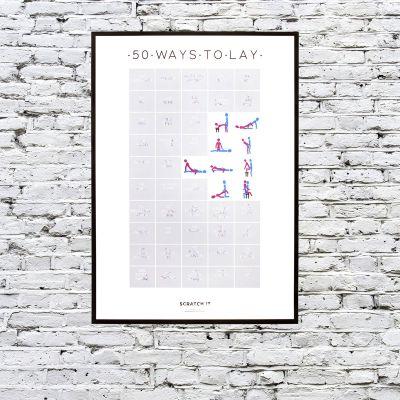 Poster - Rubbel-Poster der 50 Stellungen