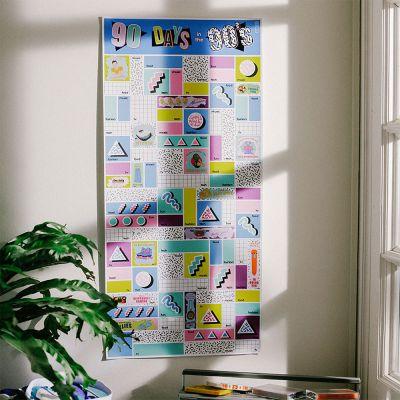 Wohnen - Rubbel-Poster 90 Tage in den Neunzigern