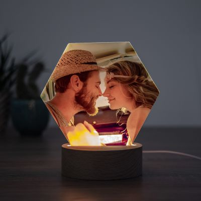 Wohnen - LED-Leuchte mit Foto