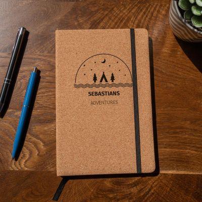 Bücher - Personalisierbares Abenteuer Kork Notizbuch