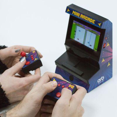 Weihnachtsgeschenke für Kinder - Mini-Arcade Konsole mit Dual Controller