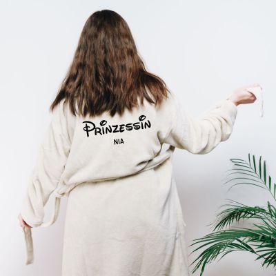 Geschenke für Freundin - Personalisierbarer Bademantel Prinzessin