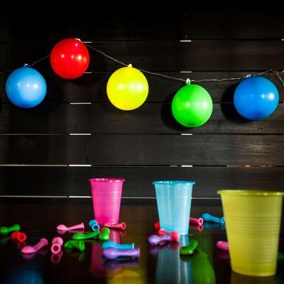 Gartenparty Deko - Ballon Lichterkette