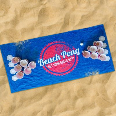 Draussen - Beach Pong Handtuch