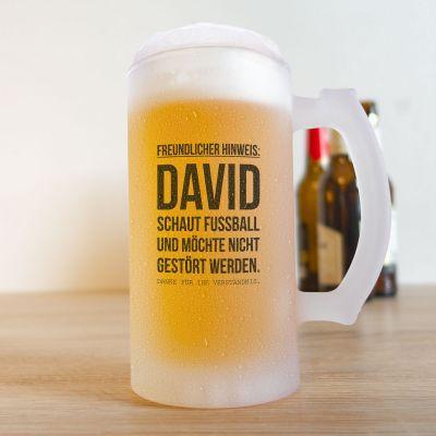 Wohnen - Bierkrug für Fußball-Fans