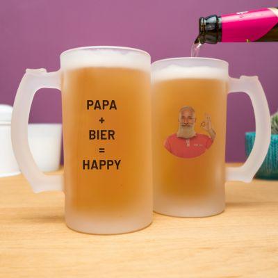 Geschenke für Papa - Personalisierbarer Bierkrug mit Foto und Text