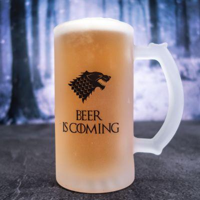 Geburtstagsgeschenke für Männer - Personalisierbarer Bierkrug mit Wolf