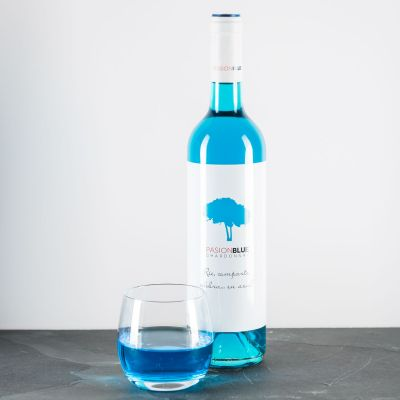 Geburtstagsgeschenk für Freund - Chardonnay in Blau