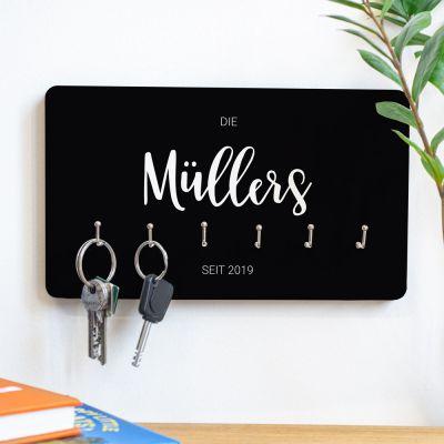 Hochzeitstag Geschenk - Personalisierbares Schlüsselbrett mit Namen