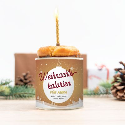 Personalisierte Süßigkeiten - Cancake zu Weihnachten