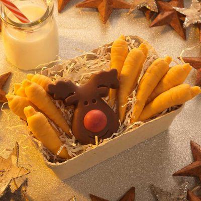 Essen & Trinken - Rentier und Möhren aus Schokolade