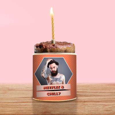 Valentinstag Geschenke für Frauen - Cancake mit Bild und Text