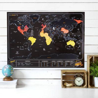 Hochzeitstag Geschenk - Rubbel-Weltkarte Tafel