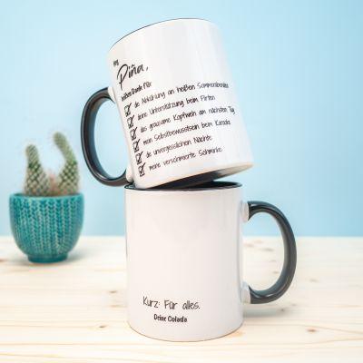 Tassen & Gläser - Personalisierbare Tasse Checkliste