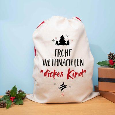 Weihnachtsgeschenke für Kinder - Personalisierbarer Weihnachtssack