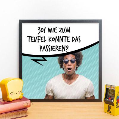 Exklusive Poster - Personalisierbares Poster mit Foto und Sprechblase