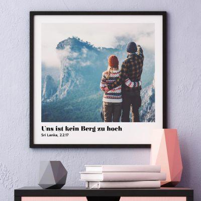 Geschenke zur Geburt - Poster mit Bild und Text