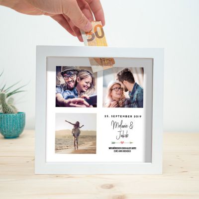 Fotogeschenke - Personalisierbare Spardose zur Hochzeit