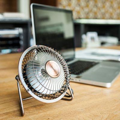 Geburtstagsgeschenk zum 50. - USB Schreibtisch Ventilator in Bronze