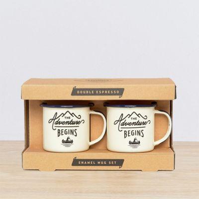 Draussen - Emaille Outdoor-Espressotassen 2er-Set