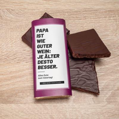 Kleine Geschenke - Personalisierbare Rotwein Schokolade