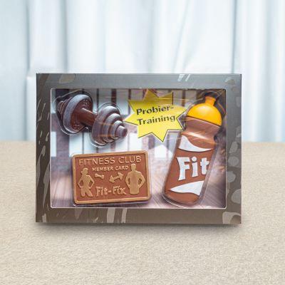 Essen & Trinken - Fitness-Set aus Schokolade