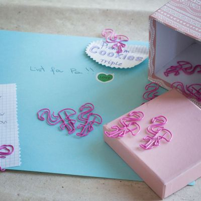 Spass im Büro - Flamingo Büroklammern 2er-Set