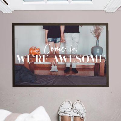 Geschenke für Bruder - Personalisierbare Foto Fußmatte