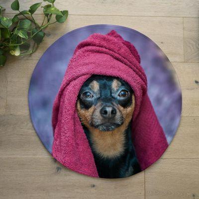 Geschenk zum Einzug - Personalisierbare Badezimmermatte mit Foto