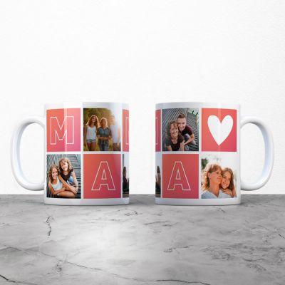 Personalisierte Tassen und Gläser - Personalisierbare Tasse Mama mit Bildern