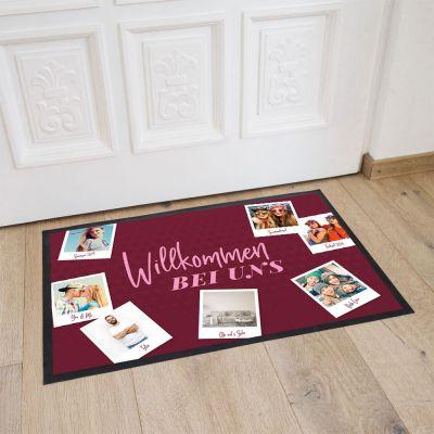 Wohnen - Personalisierbare Fußmatte mit 7 Bildern und Text