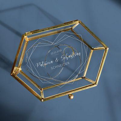 Kleidung & Accessoires - Personalisierbare Glasbox zur Hochzeit