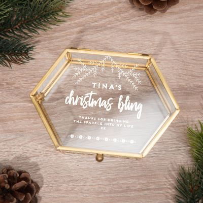 Kleidung & Accessoires - Winterliche Glasbox mit 5 Zeilen
