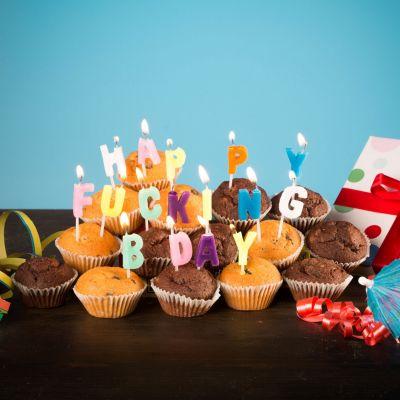 Happy Fucking Birthday Kerzen